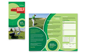 Golf Tournament - Tri Fold Brochure Template Design Sample