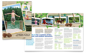 Kids Summer Camp - Brochure Template Design Sample