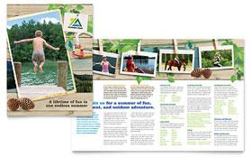 Kids Summer Camp - Microsoft Word Brochure Template