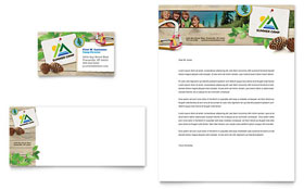 Kids Summer Camp - Business Card & Letterhead Template Design Sample