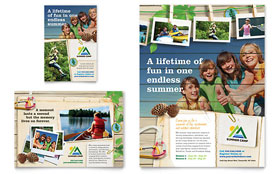 Kids Summer Camp - Flyer & Ad Template Design Sample