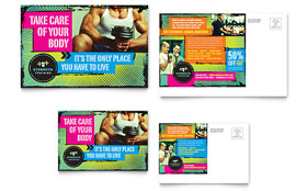 Strength Training - Postcard Template Design Sample