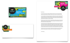 Strength Training - Business Card & Letterhead Template Design Sample