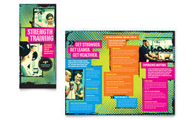Strength Training - Microsoft Publisher Tri Fold Brochure Template