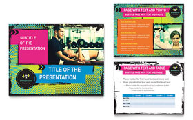 Strength Training - Microsoft PowerPoint Template