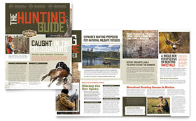 Hunting Guide - Newsletter Template Design Sample