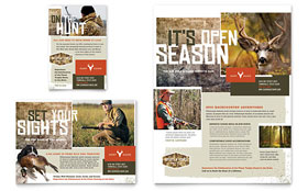 Hunting Guide - Print Ad Template