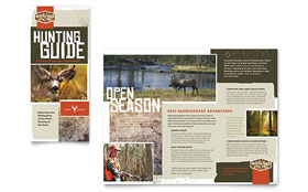 Hunting Guide - Tri Fold Brochure Template Design Sample