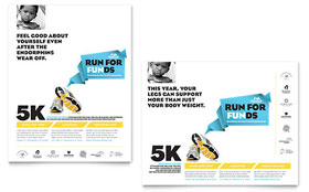 Charity Run - Poster Template Design Sample