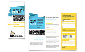 Charity Run - Tri Fold Brochure Template Design Sample