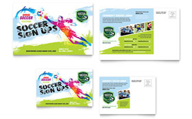 Youth Soccer - Postcard Template Design Sample
