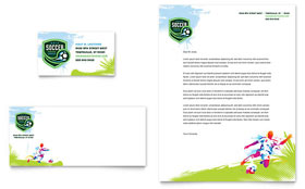 Youth Soccer - Letterhead Sample Template