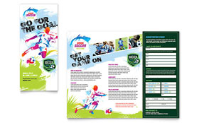 Youth Soccer - Adobe InDesign Tri Fold Brochure Template