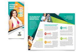 Fitness Trainer - Tri Fold Brochure Template
