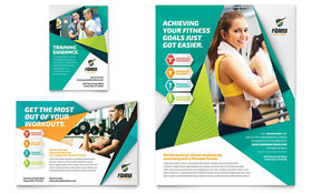 Fitness Trainer - Leaflet Template