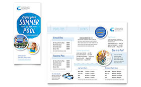 Community Swimming Pool - Microsoft Word Brochure Template