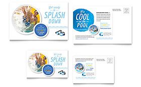 Community Swimming Pool - Postcard Template