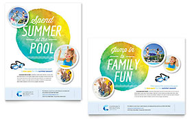 Community Swimming Pool - Poster Template