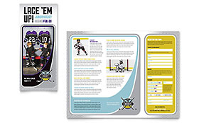 Junior Hockey Camp - Pamphlet Sample Template