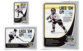 Junior Hockey Camp - Flyer & Ad Template