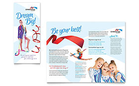 Gymnastics Academy - Pamphlet Sample Template