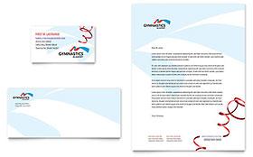 Gymnastics Academy - Business Card & Letterhead Template