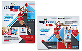 Volleyball Camp - Poster Template
