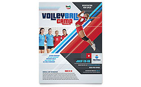Volleyball Camp - Flyer Template