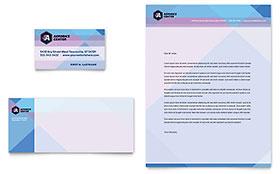 Aerobics Center - Business Card & Letterhead Template
