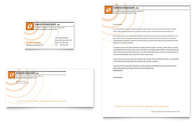 Computer Consulting - Business Card & Letterhead Template Design Sample