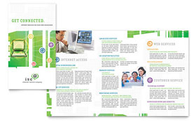 ISP Internet Service - Apple iWork Pages Brochure Template