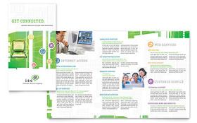 ISP Internet Service - Microsoft Word Brochure Template