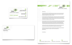 ISP Internet Service - Business Card & Letterhead Template Design Sample