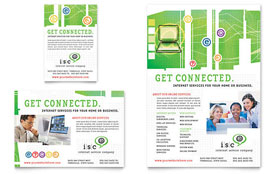 ISP Internet Service - Flyer & Ad Template Design Sample