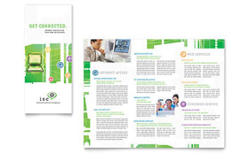 ISP Internet Service - Tri Fold Brochure Template Design Sample