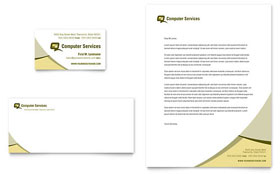 Computer Services & Consulting - Business Card & Letterhead Template Design Sample