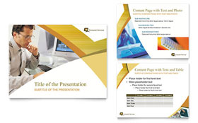 Computer Services & Consulting - PowerPoint Presentation Template Design Sample