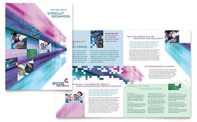 High-Tech Manufacturing - Desktop Publishing Brochure Template
