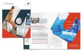 Computer Software Company - Brochure Template Design Sample