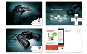 Computer Software Company - Postcard Template