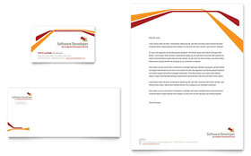 Software Developer - Business Card & Letterhead Template