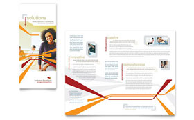 Software Developer - Desktop Publishing Tri Fold Brochure Template