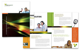 Internet Software - Graphic Design Brochure Template