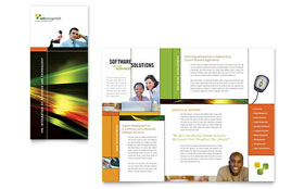 Internet Software - Microsoft Word Brochure Template