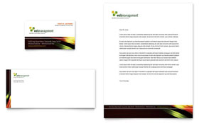 Internet Software - Business Card & Letterhead Template