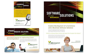 Internet Software - Flyer & Ad Template Design Sample