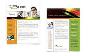 Internet Software - Datasheet Template Design Sample