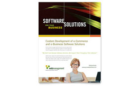 Internet Software - Flyer Template Design Sample
