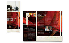 Computer Repair - Brochure Template Design Sample