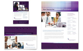 Information Technology Consultants - Flyer & Ad Template Design Sample